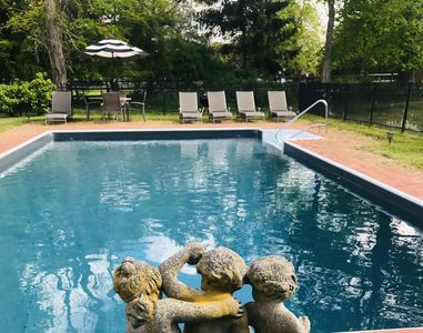 "Photo for ""New Listing"" Hampton Summer Home with Heated Pool"