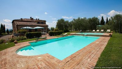 Photo for Asciano villa with views, Tuscan villa to let, self catered villa Tuscany