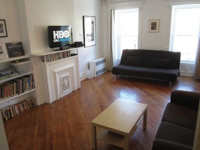 Living Room: (1) full-size sofa bed (sleeps 2); sofa; A/C; HDTV w/ HBO/DVD