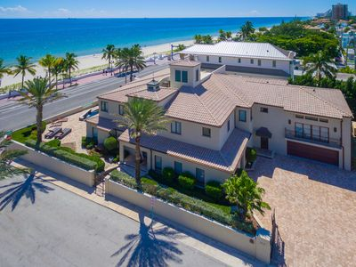 Photo for Beach Mansion, Luxury 9 BR Oceanfront Estate.
