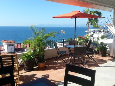 Photo for Best Location in PV! Ocean View, Seconds from Blue/Green Chairs, Mantamar  2b/2b