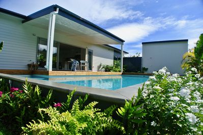 Swimming pool and outdoor living area