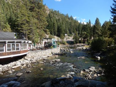 View of River Ranch Restaurant and Truckee River from decks