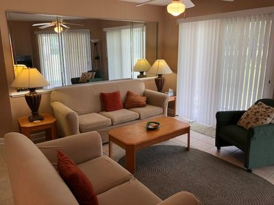 Photo for Ground floor condo overlooking first hole of Dogwood course, fully furnished