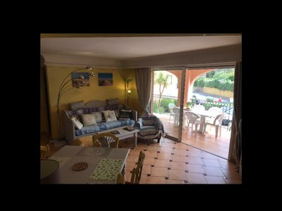 Photo for apartment 55M 2/7 beds / 200 m beach / pool in residence