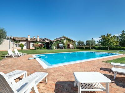 Photo for Luxe Roman Villa 25 minutes away from Rome | POOL, TENNIS COURT, FOOTBALL