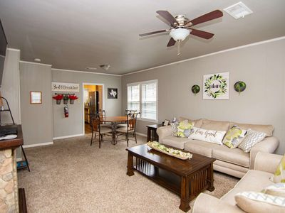 Photo for White Stone Cottage Close to AT&T Stadium, Globe Life Field, Six Flags, Hurricane Harbor & More!