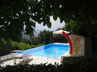 Photo for Villa with private pool set in the woods, covered outdoor kitchen, garden