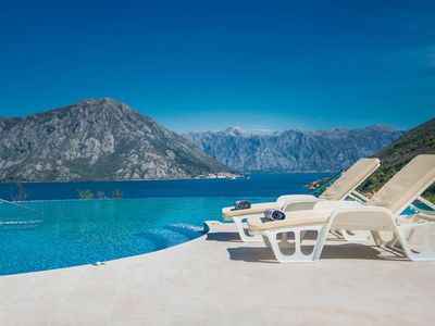 Luxury apartments with an infinity pool in Kotor Bay