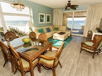 Photo for Waterfront condo w/ beach views, a shared pool, fitness room, & grilling area