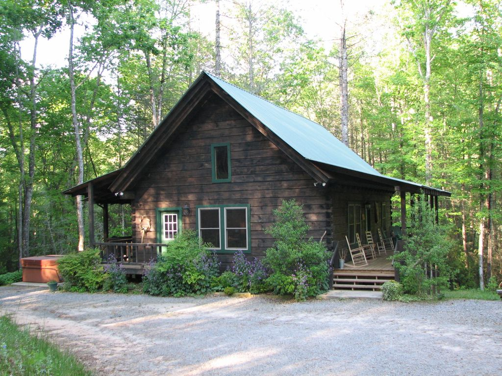 Luxury Log Cabin On 21 Private Ac Above Mtn Vrbo