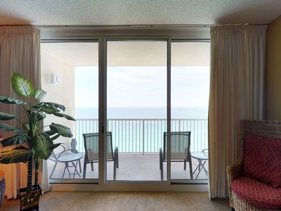 Photo for Oceanfront condo w/ views, beach access, pool & hot tub at Majestic Beach Resort