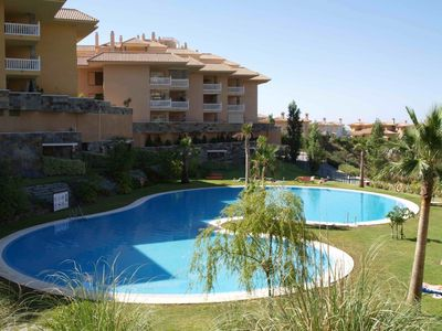 Photo for Luxury 2 bedroom ground floor apartment in El Higueron country club, pool WI FI