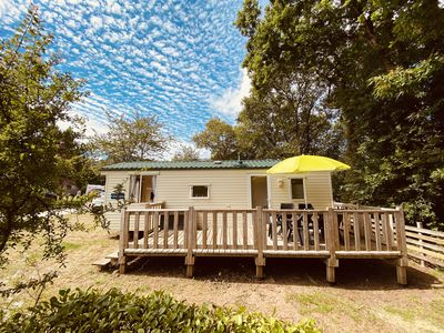 Photo for Mobil-Home 4-6 people, near the sea, 3 * family campsite, heated swimming pools