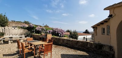 Photo for Villa with private pool 10 minutes from the beach with terrace and vistyas to the sea