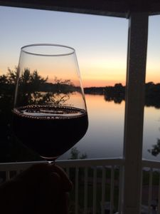 Great view for evening wine!
