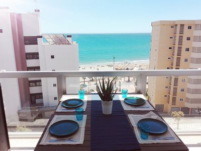 Photo for Charming apartment with sea view 20 meters from the best beach in Fuengirola