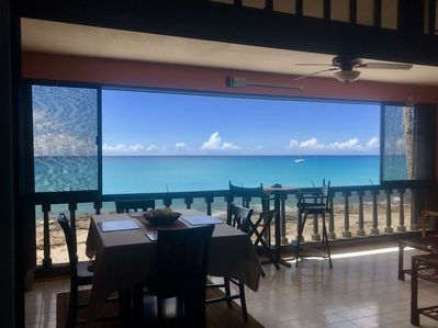 Walk in to spectacular views of the Caribbean Sea!