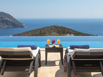 Photo for Stylish Villa With Pool/Sauna/Steam Room/Jacuzzi And Best View  in Kalkan