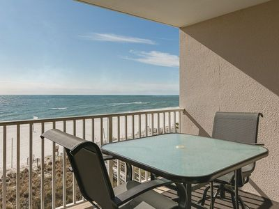Photo for Beautiful beachfront balcony~Sleeps 6~Enjoy the beach without the crowded hotel like condo.