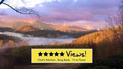 Photo for NOW AVAILABLE THANKSGIVING  ★ Majestic Views  ★ Gas Log Stove ★ Fire Pot