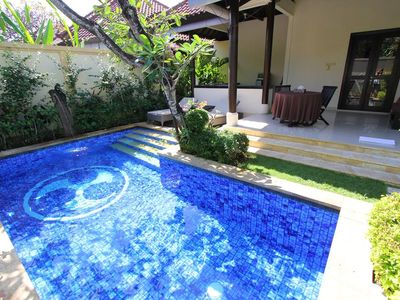 Photo for 1 BR Villa in central Seminyak with a private pool only 10 minutes to the beach
