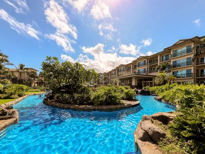 Photo for Updated condo in oceanfront resort w/ AC & shared pool/water slide/spas!