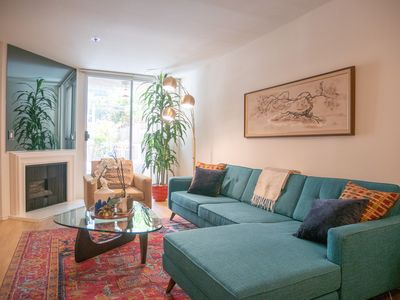 Photo for Trendy Mid-Century Stunner Central to Everything w/ Pool and Hot Tub