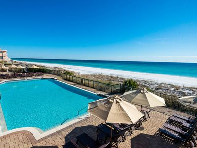Photo for Complimentary Beach Setup! Gulf Front First Floor Condo! Ice Maker!