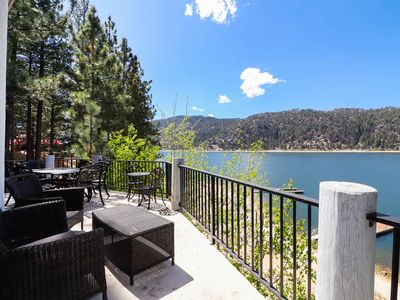 Photo for Lake Escape: Lakefront with Private Beach & Boat Dock! Pool & Foosball Table! Internet & Cable!