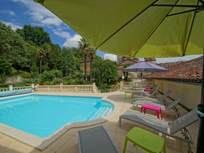 Photo for Town Mansion With Private Pool And Garden, Riberac, Dordogne