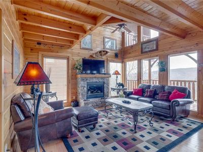 Photo for A Walk in the Clouds | Mountain Views | Sleeps 10 | Loaded with Entertaining Amenities