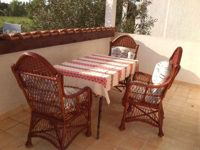 Photo for One bedroom apartment with terrace Rovinj (A-16796-a)