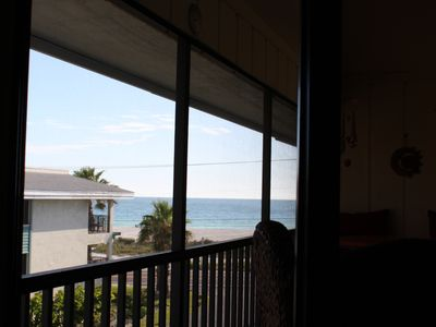Awesome view of the Gulf and beach from the Private screened lanai