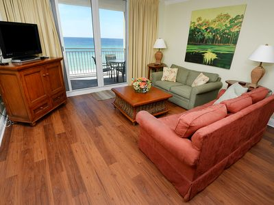 Photo for Gulf front 2 bedroom 2 bath sleeps 8 Great location for Ball teams
