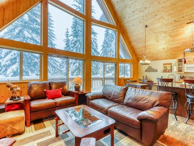 Photo for New Listing,  Ski cabin at the summit, mountain views, & foosball table!
