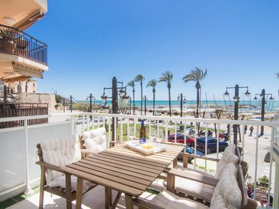 Photo for RIBERA SOL Beach front property with stunning sea views in Sitges.