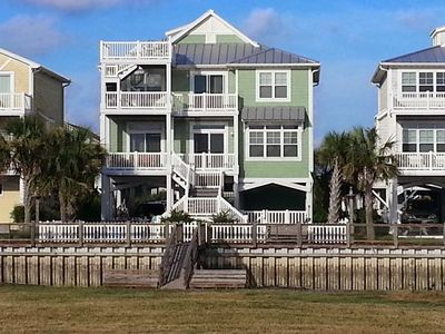 Photo for 5 Bedroom Canal Home with Boat Dock, Pool, Kayaks, Fenced Yard, and Ocean View!