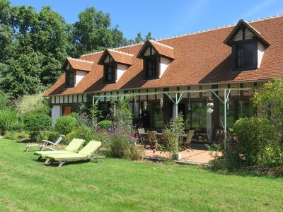 Photo for Large house 9 p in Sologne near Chambord and the chateaux of the Loire with pool