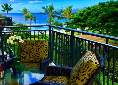 Beautiful Ocean view from the Lanai