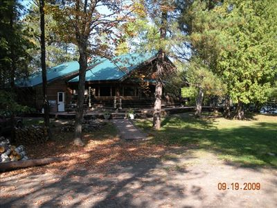Photo for Historic Lakefront Cedar Log Cabin on Wooded 4 Acre Parcel