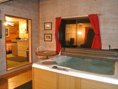 Photo for CABIN #1 - LOVERS HIDEAWAY(JACUZZI & FIREPLACE)