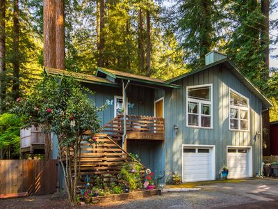Photo for Book & Candle , 1500 SF, 1 blk to River & Beach, WiFI, Spa, under the redwoods
