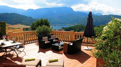 Photo for Sea view Apartment in Port of Soller with shared pool and large private terrace
