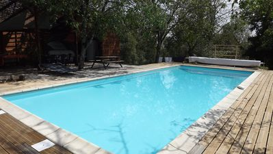 Photo for Large family home, private heated pool, large garden, near Najac.