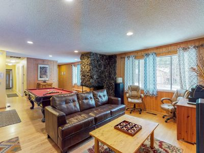 Photo for NEW LISTING! Spacious cabin w/private hot tub near hiking trails, lake & skiing