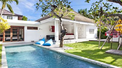 Photo for 3 BDR (6-7 persons), Private Pool, Center Seminyak, 350m beach, Spacious & Quiet