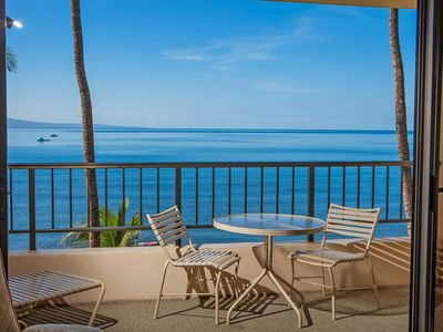 Photo for Ocean Front Views from this fourth floor condo at Sugar Beach Resort #425