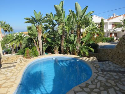 Photo for Delightful Denia townhouse with panoramic sea and mountain views, communal pool