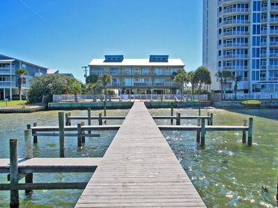 Photo for Landing 104 - Steps from the Beach with Balcony Facing the Gulf!